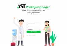 Inlogscherm AST Praktijkmanager